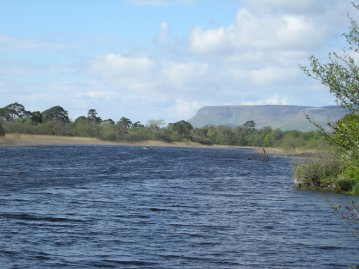 Garavogue river and Benbulben from Hazelwood