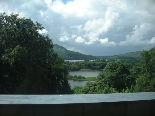 view from St Angelas library window over Lough Gill