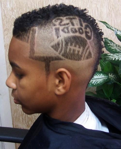 Punk Short Mohawk Hairstyles With Hair Tattoos For Men Dreadlock Mohawk Haircut For Men